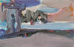 Landscape/acrylic on canvas/28x44cm