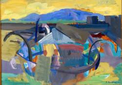 Fishing boat acrylic on canvas 70x50cm