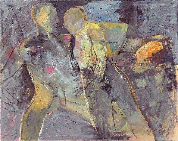Erotic/oil on canvas/80x100cm