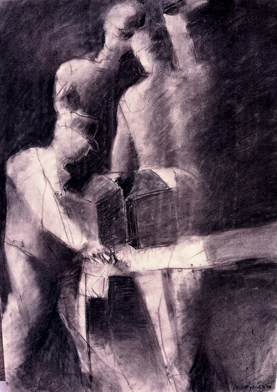 Figures/charcoal on paper/70x100cm