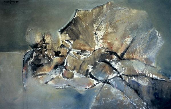Figure/acrylic on canvas/80x70cm