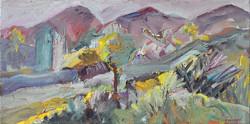 Landscape/acrylic on canvas/64x128cm
