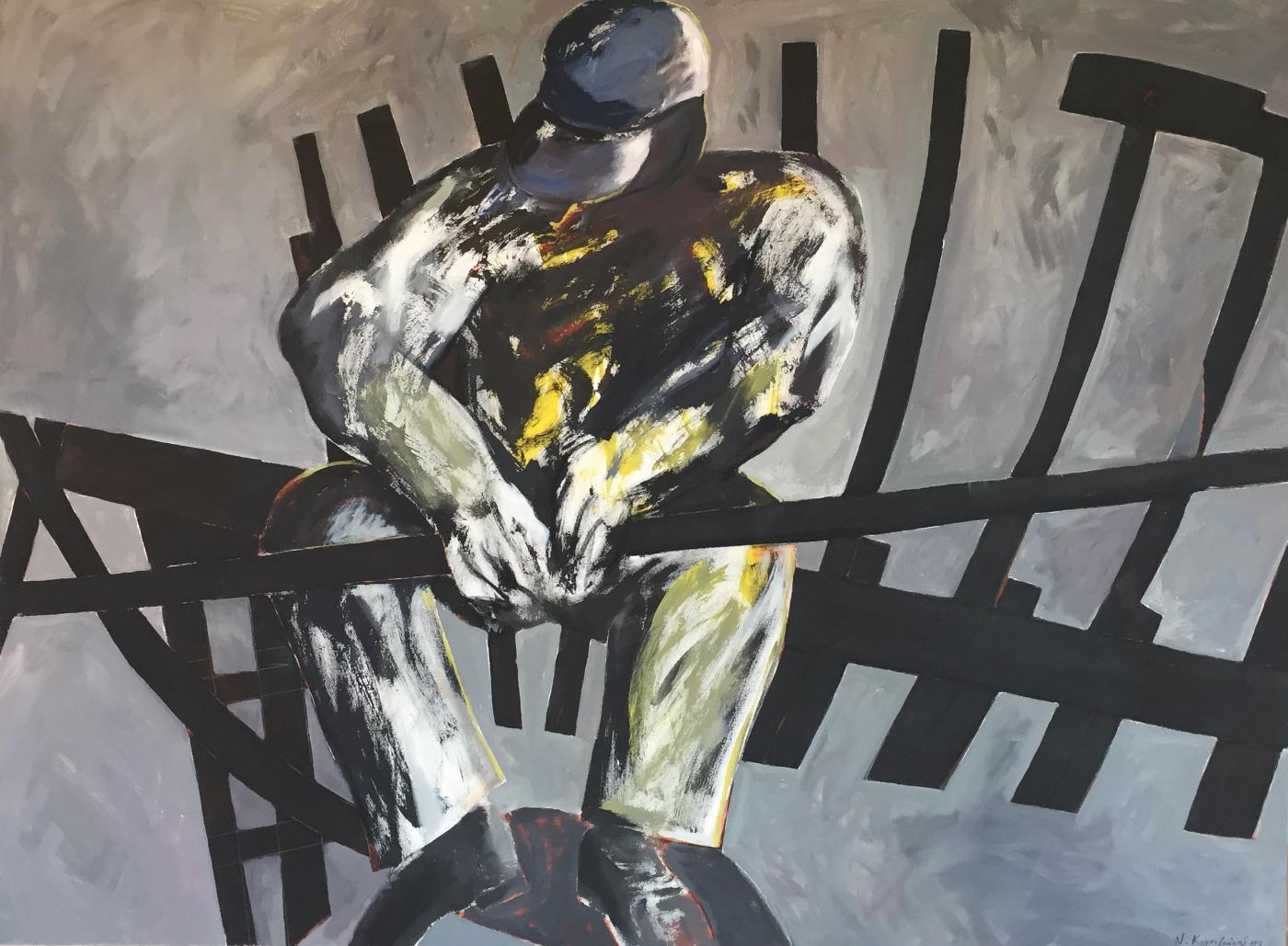 Shipbuilder/acrylic on canvas/80x110