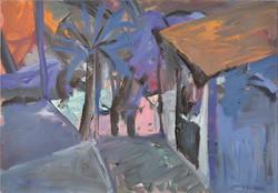 Garden/oil on canvas/80x100cm