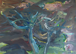 Trees acrylic on canvas 80x70cm