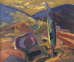 Landscape acryric on canvas 80x70cm
