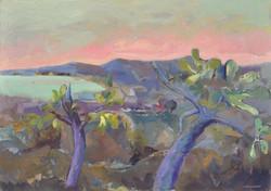 Landscape/acrylic on wood/74x104cm