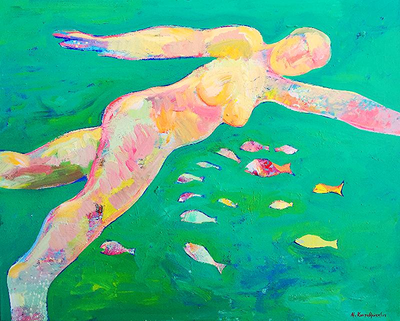 Bather/acrylic on canvas/80x100cm