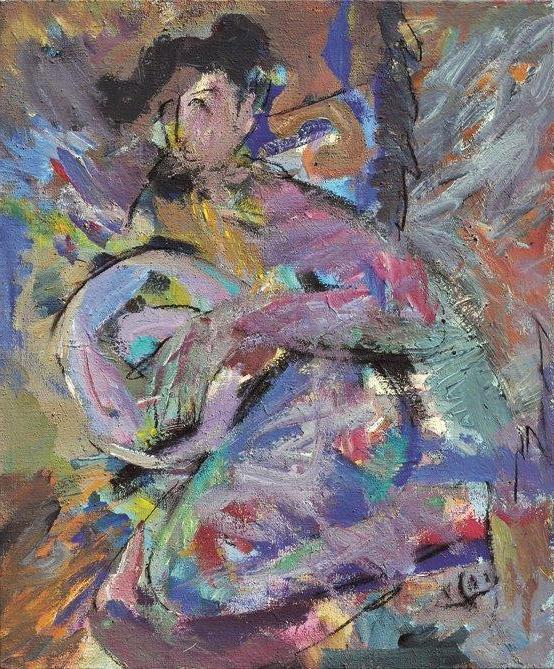 Figure/acrylic on canvas/87x104cm