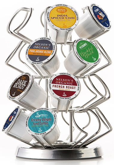 K Cup Carousel. 24 ct. Chrome