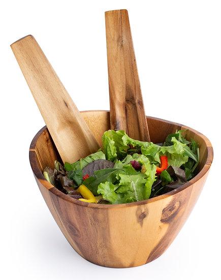 Salad Bowl w/ Utensils
