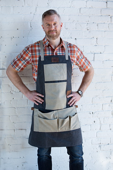 Heavy-Duty Utility Apron. Canvas