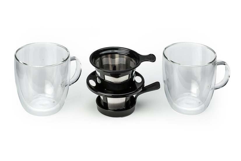 Pour Over & Set of Insulated Glassware