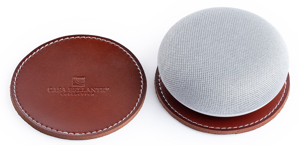 Leather Coaster. Set of Two