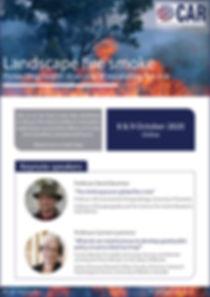 Bushfire flyer and program 8 & 9 October