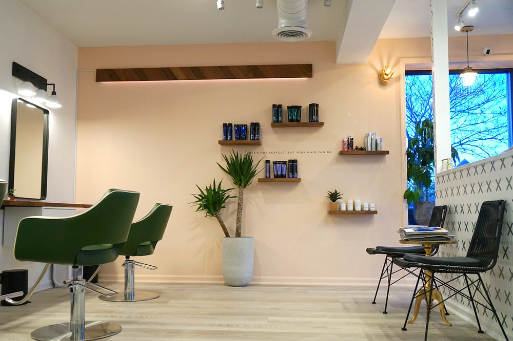 Scandinavian, Botanical, Boho Interior Design At The Salon Westfield. Hair Salon Decor
