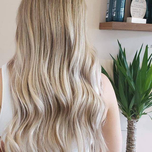 Icy Blond Balayage With Over Tone