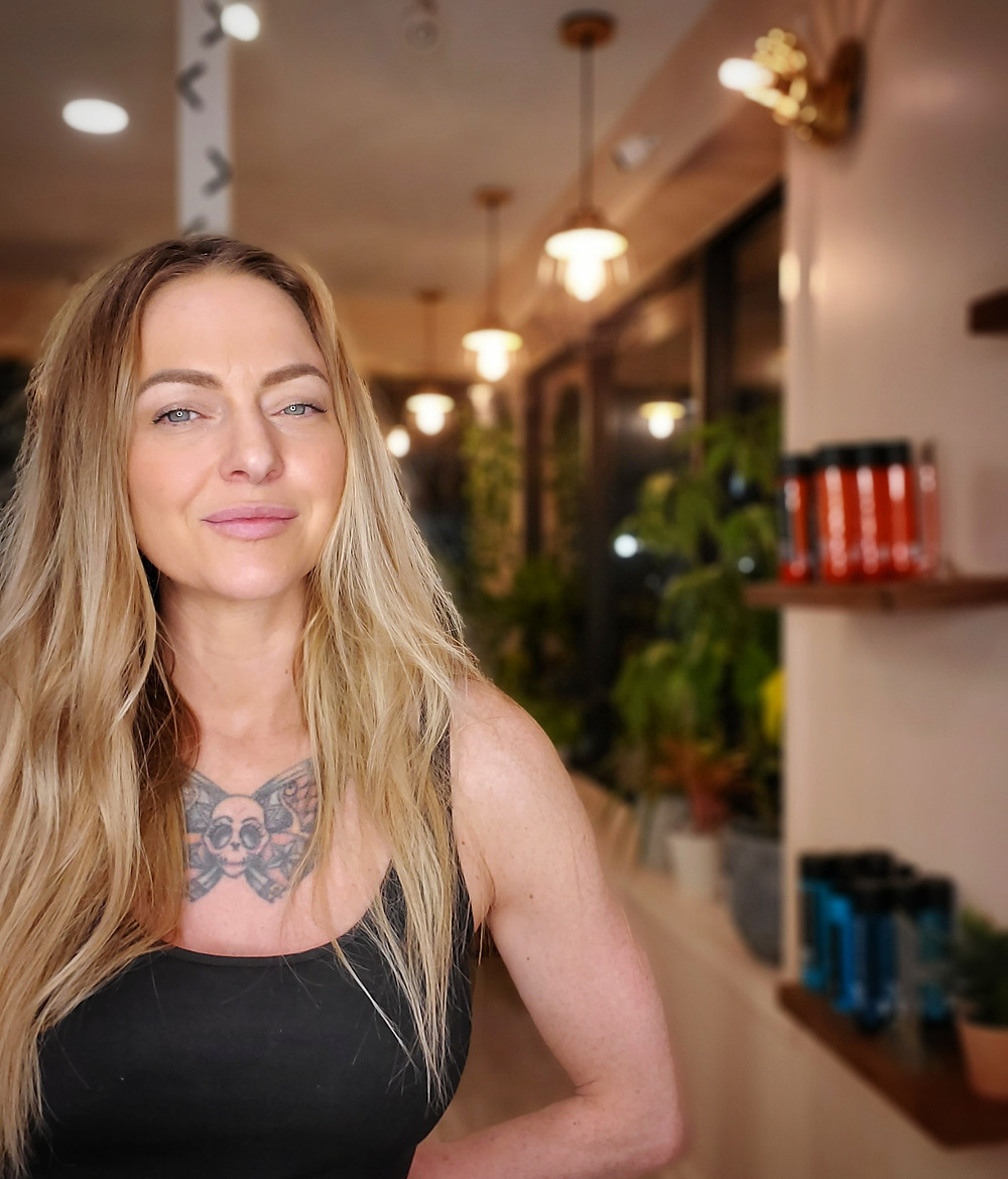 Stacy Pitt, Owner of StylesOnB in NYC at her new salon, The Salon Westfield. 205 South Avenue W. Westfield, NJ 07090