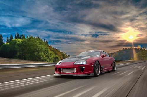 Supra Front Rolling Shot Canvas