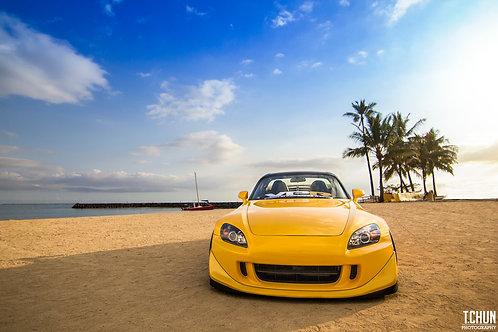 S2000 CR Beach shot Canvas