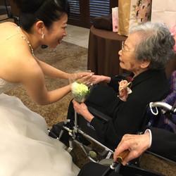 念願のお孫さんの結婚式に