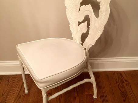 Before and After Vanity Chair