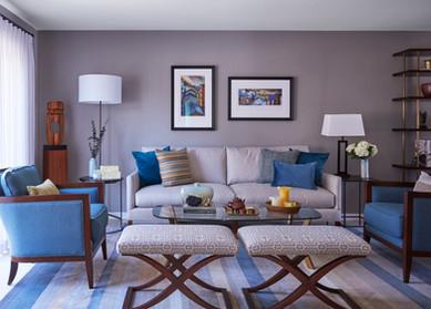 Comfy Contemporary Living Room
