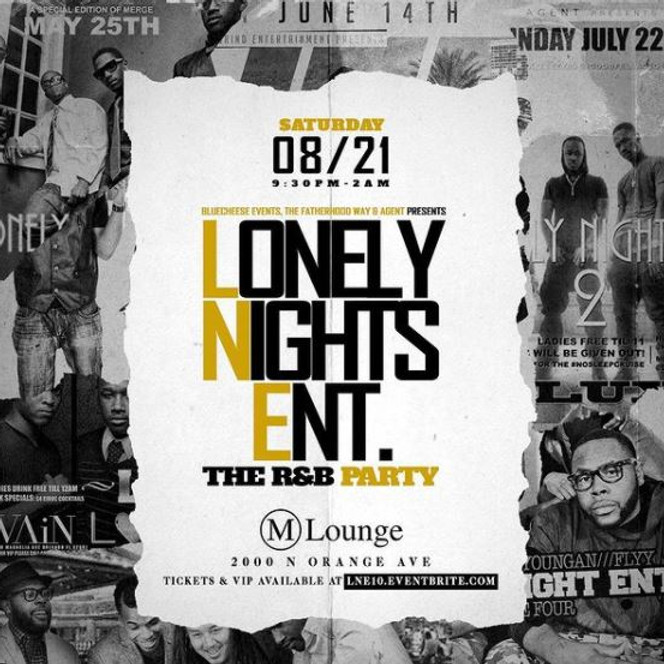 LONELY NIGHTS ENT. The R&B Party