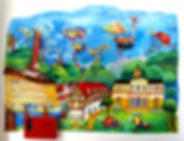 Wandmalerei Kuchen schwäbische Alb