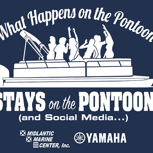 """What Happens On The Pontoon..."" Long Sleeve Shirt"
