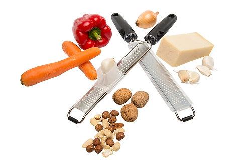 V-Premium Parmesanreibe inklusive Halterbox für Knoblauch