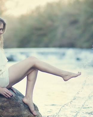 Woman Feet in Water Splash Wallpaper.jpg
