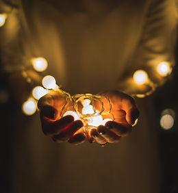 Spa Meditation Energy work hands Lights