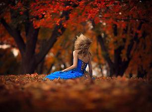 Woman Mood Blue Dress Wallpaper.jpg