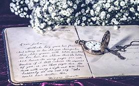 Vintage-Pocket watch Clock Writing Journ