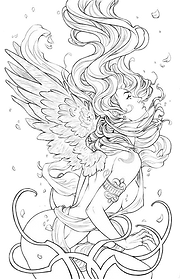 Creativity Colouring Pages  Lady Fantasy