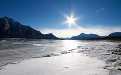 Abraham Lake Alberta Canada Winter