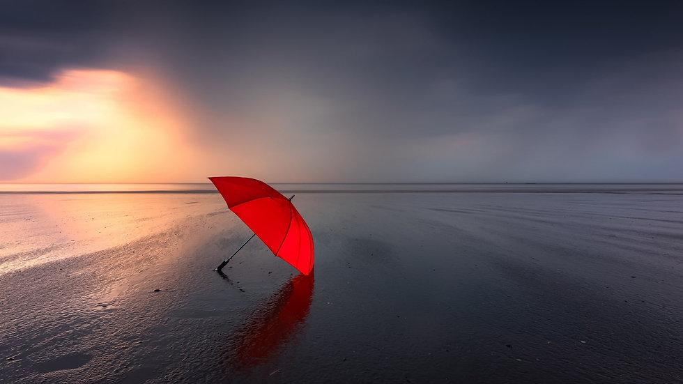 Wallpaper red Umbrella on Beach.jpg