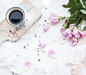 Journaling Coffee Flowers Wallpaper Pink