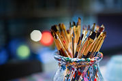 Art Creativity Paint brushes-Wallpaper.j