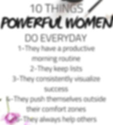 10 Things Powerful Woman Do Evey Day cop