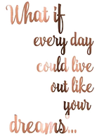 Inspirational Quote What if Every Day Li