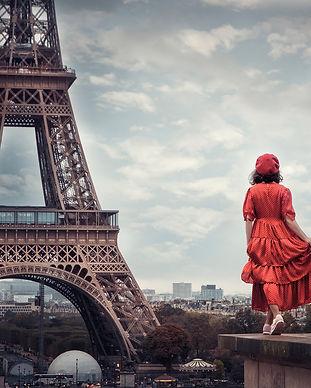 Woman Paris Wallpaper EIffel Tower Franc