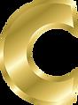 Letter C Gold Alphabet.png