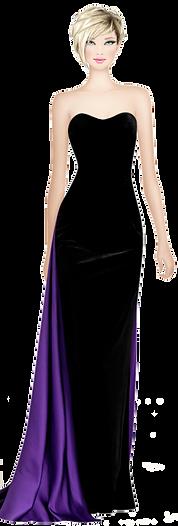 Avatar Elegant Black & Purple Dress.png