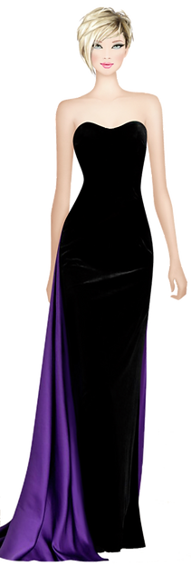 Avatar Elegant Black & Purple Dress.png