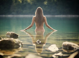 Body Health WellBeing_Woman in Lake Wall