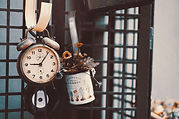 Retro Vintage Clock Still Life Wallpaper