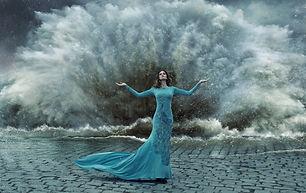 Woman Dress Blue Consciousness Wallpaper