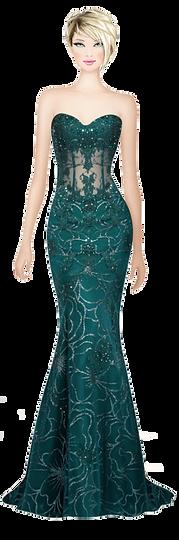 Avatar Elegenat Green Dress.png